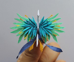 1,000 origami cranes by Cristian Marianciuc