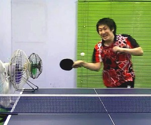 Table tennis trick shots