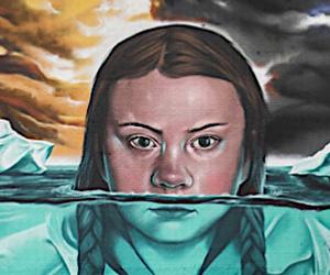 Street Art: Mural Greta Thunberg