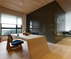 modern stylish open space apartment in taipei