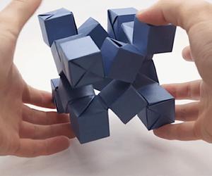 Jo Nakashima makes moving origami figures