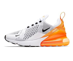 Nike Air Max 270 in black and white and orange