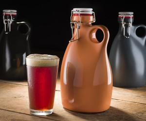 Hand Poured Growlers from Orange Vessel Co.