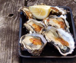 Oysters on the Half Shell served with Sweet Chilli