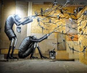 """Phlegm """"The Bestiary"""" @ London's Griffin Gallery"""