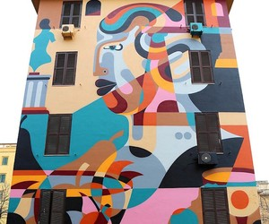 New Mural by street artist Reka in Rome/Italy