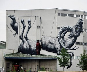 Streetart: ROA – New Mural In Linz // Austria