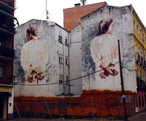 Streetart: Borondo – New Mural in Tetuan, Madrid