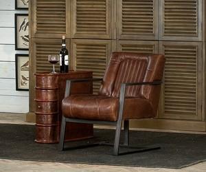 Vintage Leather Chairs   by Sarreid
