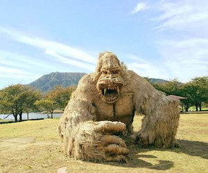 The Wara Art Festival turns straw into animals