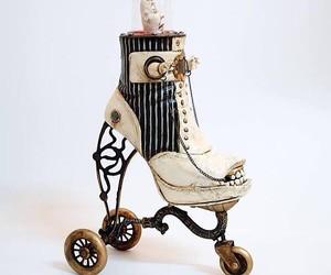 Costa Magarakis and his shoe art