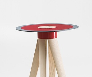 The minimalist Axel Stool by Italian MID Studio