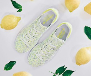 Adidas Stan Smith PK in White/Solar Yellow
