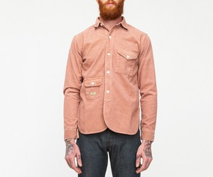 Han Kjobenhavn army shirt pale red by Need Supply