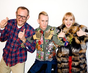 JEREMY SCOTT AND CL AT TERRY'S STUDIO
