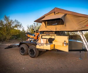 A excursion trailer from Turtleback Trailer