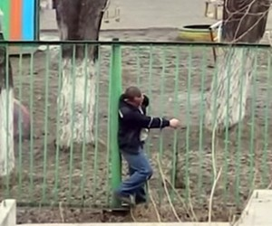 Viral of the Day: A Russian Guy & A Fence