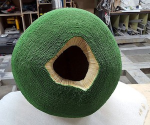 Wallace builds a sphere of 42,000 matches