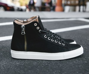 Wings Horns Leather High Tops