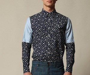 The Brooklyjn Circu Winter Floral Blue Button-Up